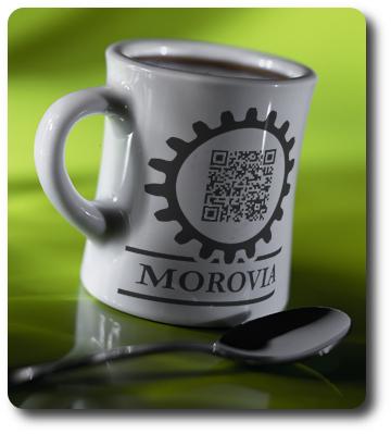Morovia qr code mug