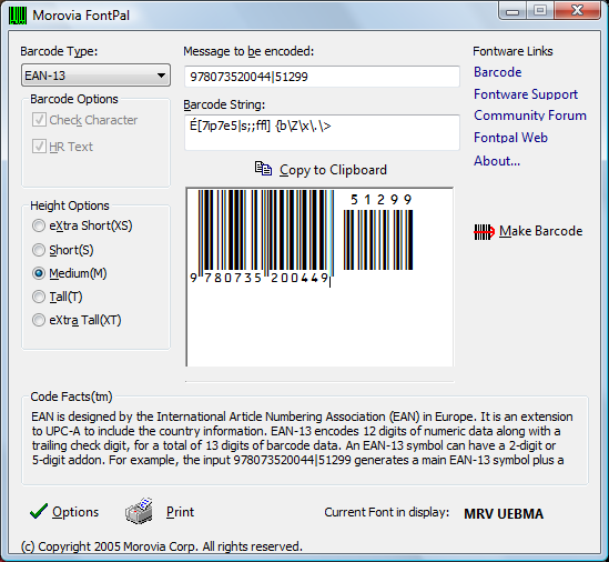 Creating Barcodes With Barcode Font And Encoder