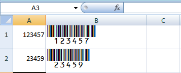 Using Barcode Fonts in Excel Spreadsheets