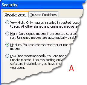 how to change macro security in excel 2013 using barcode