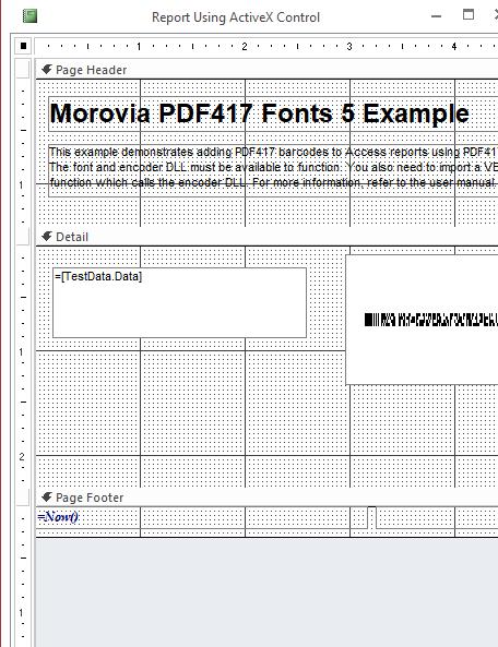 PDF417 Fonts