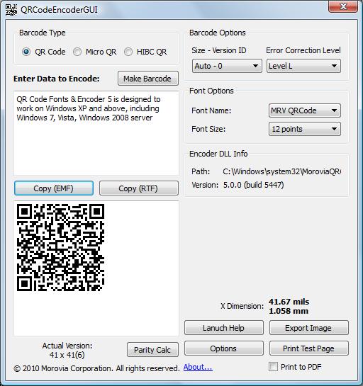 QR Code Fonts & Encoder 5