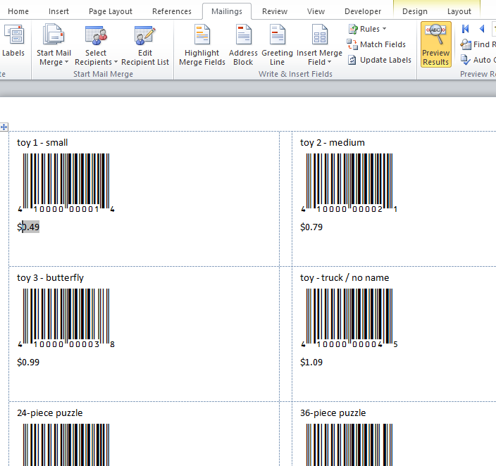 KB10028 - Tutorial: Creating barcode labels with Microsoft