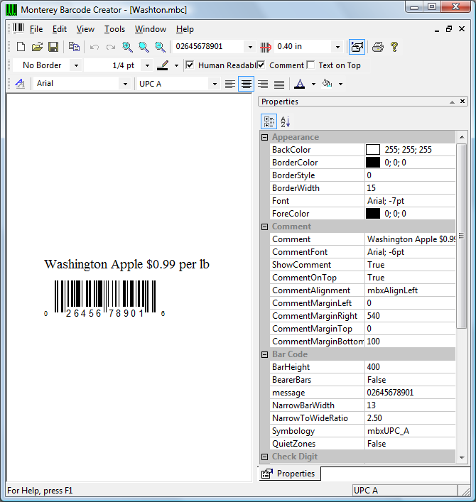 Barcode labeling software - Monterey barcode creator